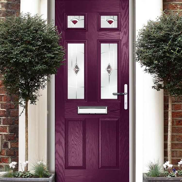 A purple composite door-view our range of doors here.