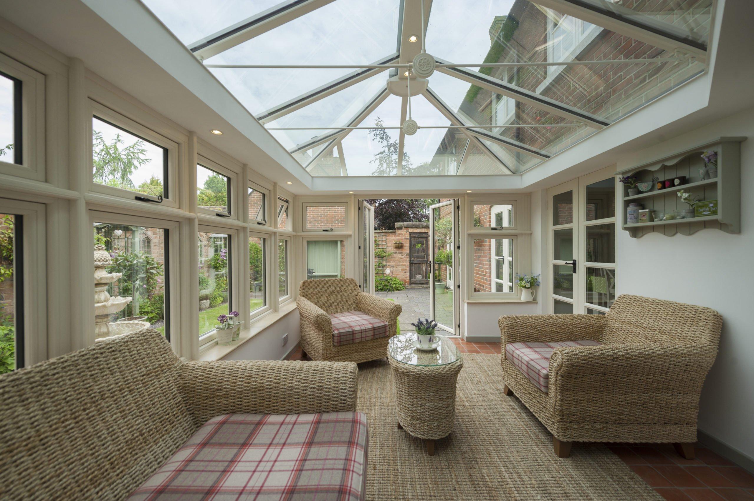 Inside a bespoke conservatory